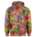 Colorful Mosaic Men s Zipper Hoodie