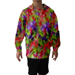 Colorful Mosaic Hooded Wind Breaker (kids) by DanaeStudio