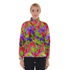Colorful Mosaic Winter Jacket by DanaeStudio