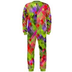 Colorful Mosaic Onepiece Jumpsuit (men) by DanaeStudio