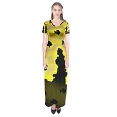 Khazar s dream  Short Sleeve Maxi Dress by Valentinaart