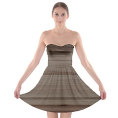 Wooden Stripes Strapless Bra Top Dress by DeneWestUK