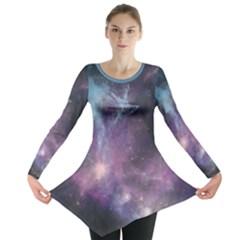 Blue Galaxy Long Sleeve Tunic  by DanaeStudio