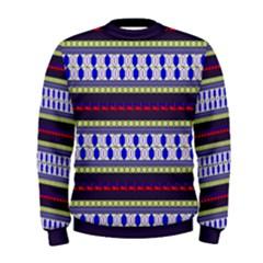 Colorful Retro Geometric Pattern Men s Sweatshirt by DanaeStudio