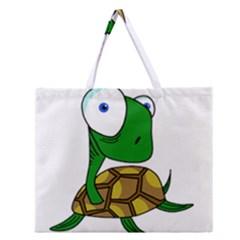 Turtle Zipper Large Tote Bag by Valentinaart