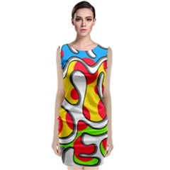 Colorful graffiti Classic Sleeveless Midi Dress by Valentinaart