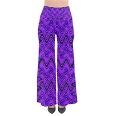 Purple Wavey Squiggles Pants by BrightVibesDesign