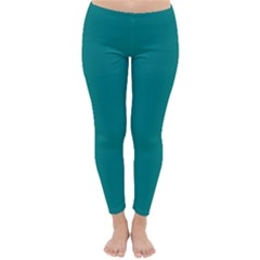 Teal Colour Winter Leggings  by artpics