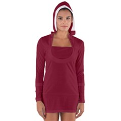 Tamarillo Colour Women s Long Sleeve Hooded T-shirt by artpics
