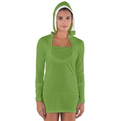 Sushi Green Colour Women s Long Sleeve Hooded T-shirt by artpics