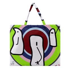 Disco Zipper Large Tote Bag by Valentinaart