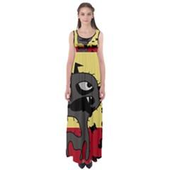 Angry little dog Empire Waist Maxi Dress