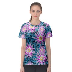 Whimsical Garden Women s Sport Mesh Tee by DanaeStudio