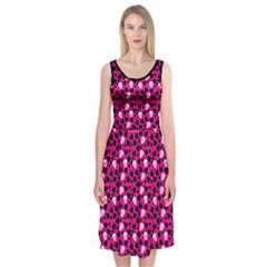 Love And Skulls Midi Sleeveless Dress by Contest1673627