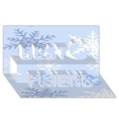 Snowflakes Pattern Best Friends 3D Greeting Card (8x4) by artpics
