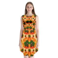 Want To Put Them Back On The Tree Sleeveless Chiffon Dress   by pepitasart