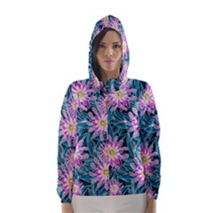 Whimsical Garden Hooded Wind Breaker (women) by DanaeStudio