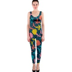 Colorful Floral Pattern Onepiece Catsuit by DanaeStudio