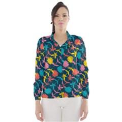 Colorful Floral Pattern Wind Breaker (women) by DanaeStudio