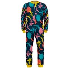 Colorful Floral Pattern Onepiece Jumpsuit (men) by DanaeStudio
