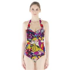 New Year Halter Swimsuit by Valentinaart