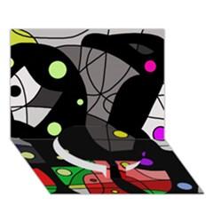 Optimistic Decor Circle Bottom 3d Greeting Card (7x5) by Valentinaart