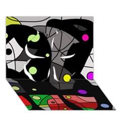 Optimistic Decor Clover 3d Greeting Card (7x5) by Valentinaart