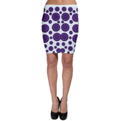Shimmering Floral Abstracte Bodycon Skirt by pepitasart