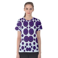 Shimmering Floral Abstracte Women s Cotton Tee by pepitasart