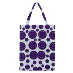 Shimmering Floral Abstracte Classic Tote Bag by pepitasart