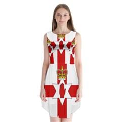 Ulster Banner Sleeveless Chiffon Dress