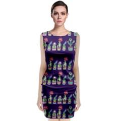 Cute Cactus Blossom Classic Sleeveless Midi Dress by DanaeStudio