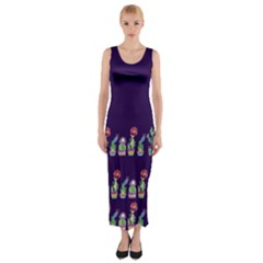 Dress Cute Cactus Blossom Fitted Maxi Dress by DanaeStudio