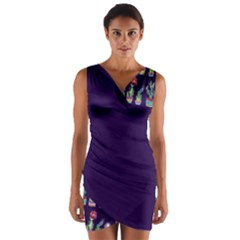 Cute Cactus Blossom Wrap Front Bodycon Dress by DanaeStudio