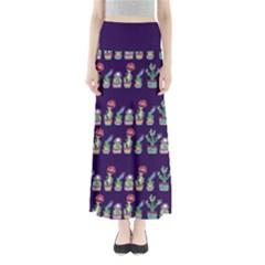Cute Cactus Blossom Women s Maxi Skirt by DanaeStudio
