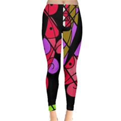 Elegant abstract decor Leggings  by Valentinaart
