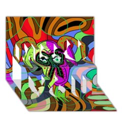 Colorful Goat Miss You 3d Greeting Card (7x5) by Valentinaart