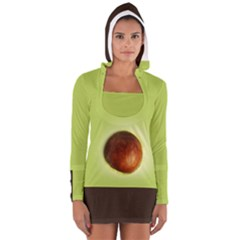 avocado3 Women s Long Sleeve Hooded T-shirt by Wanni