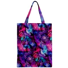 Glowing Abstract Zipper Classic Tote Bag by KirstenStar
