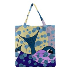 Whale Grocery Tote Bag by Valentinaart