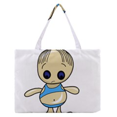 Cute Boy Medium Zipper Tote Bag by Valentinaart