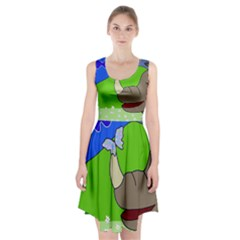 Butterfly and rhino Racerback Midi Dress by Valentinaart