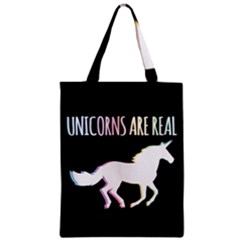 Unicorns Are Real Zipper Classic Tote Bag by TanyaDraws