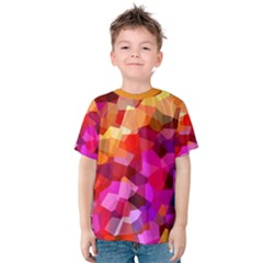 Geometric Fall Pattern Kid s Cotton Tee by DanaeStudio