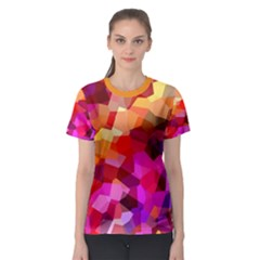 Geometric Fall Pattern Women s Sport Mesh Tee by DanaeStudio