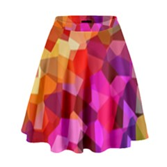 Geometric Fall Pattern High Waist Skirt by DanaeStudio