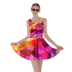 Geometric Fall Pattern Skater Dress by DanaeStudio
