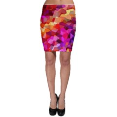 Geometric Fall Pattern Bodycon Skirt by DanaeStudio