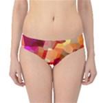 Geometric Fall Pattern Hipster Bikini Bottoms