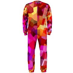 Geometric Fall Pattern Onepiece Jumpsuit (men) by DanaeStudio